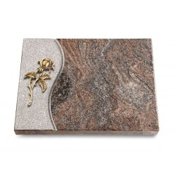 139 Grabtafel Wave/Paradiso (Bronze Rose 2)