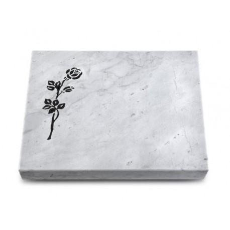 154 Grabtafel Marmor (Rose 2)
