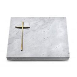 159 Grabtafel Marmor (Bronze Kreuz 2)