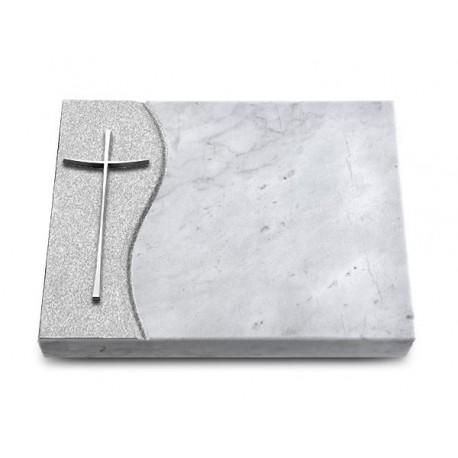 164 Grabtafel Wave/Marmor (Alu Kreuz 2)