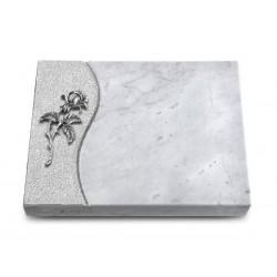 165 Grabtafel Wave/Marmor (Alu Rose 2)