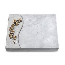 167 Grabtafel Wave/Marmor (Bronze Efeu)