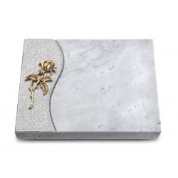 169 Grabtafel Wave/Marmor (Bronze Rose 2)