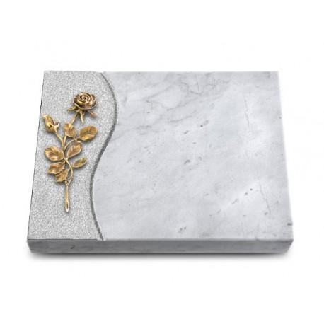 170 Grabtafel Wave/Marmor (Bronze Rose 13)