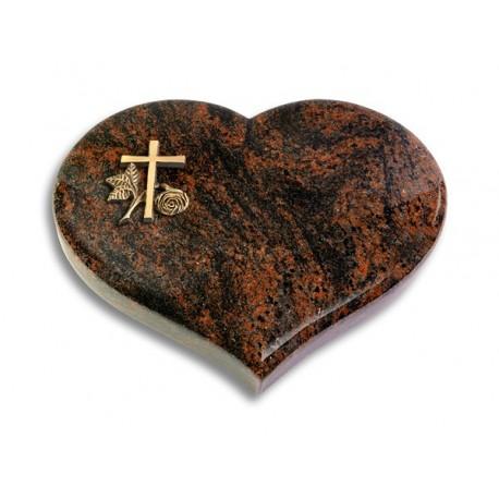 30 Grabstein Coeur/Aruba (Bronze Kreuz 1)