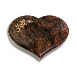 31 Grabstein Coeur/Aruba (Bronze Rose 1)