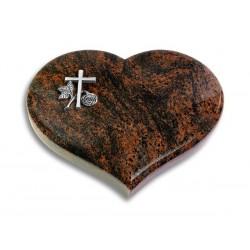 33 Grabstein Coeur/Aruba (Alu Kreuz 1)
