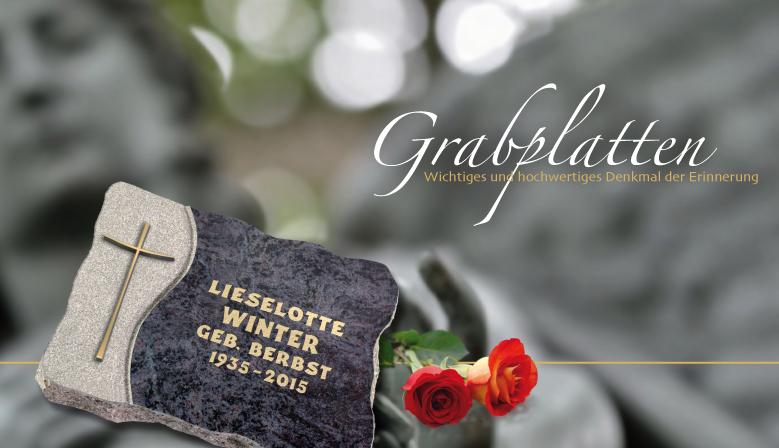 Grabplatten für Urnengräber